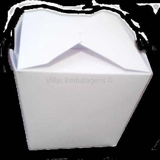 Embalagem branca para alimentos comida caixa box descartável M 100 unidad