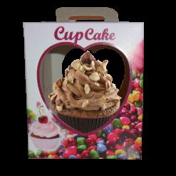 Embalagem para Cupcake com berço doces caixa box descartável 01 unidades Pacote com 50 unidades
