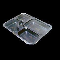 Embalagem plástica teishoku comida japonesa 25 unidades