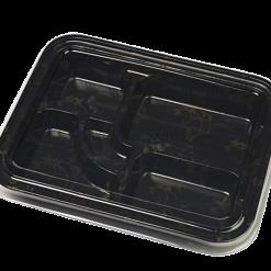 Embalagem plástica teishoku baixo descartável 25 unidades